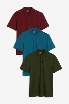 Pique Poloshirts 3 Pack