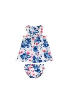 Cath Kidston White Baby Dulwich Rose Dress