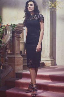 Кружевное облегающее платье с блестками Lipsy VIP