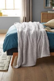 Sparkle Fleece Throw Blanket Natural Colour