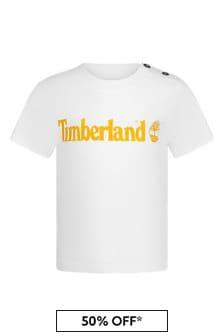 Timberland Baby Boys White Cotton T-Shirt