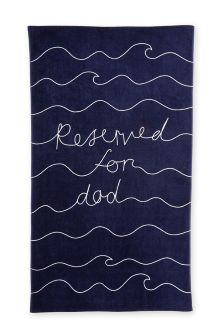 Reserved For Dad Beach Towel