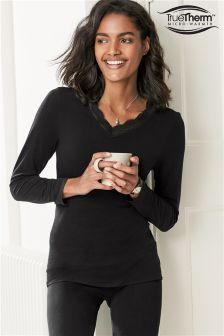 Light Weight Truetherm™ Microwarmth V-Neck Top