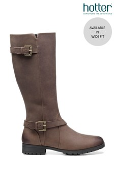Hotter Belgravia Wide Fit Zip Fastening Knee Boots