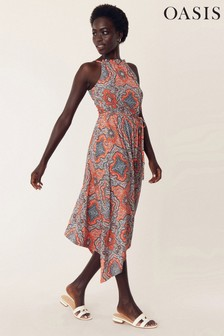 Oasis Multi Orange Paisley Maxi Dress