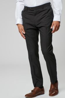 Textured Slim Fit Suit: Trousers