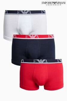 Emporio Armani Large Logo Trunk Three Pack