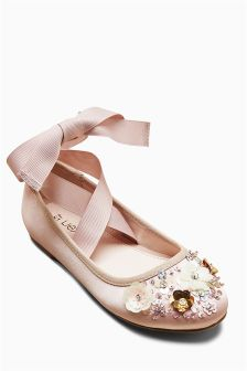 Flower girl shoes girls bridesmaid shoes next official site embellished shoes older mightylinksfo