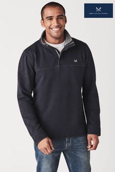 Crew Clothing Company Blue Padstow Pique Sweater