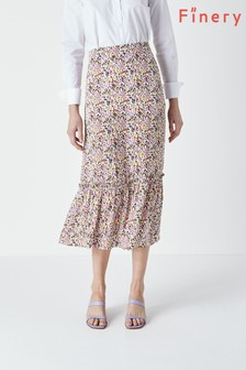 חצאית מודפסת של Finery דגם Alaina בקרם