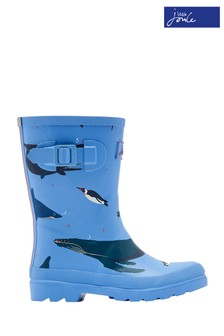 Joules Blue Boys Printed Welly