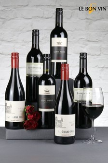 Set of 6 Le Bon Vin Relaxing Reds Wine Selection