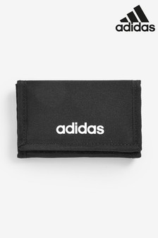 adidas Black Linear Logo Wallet
