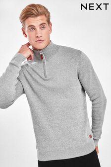 Luxusní svetr se zipem u krku