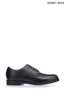 Start-Rite Black Brogue Snr