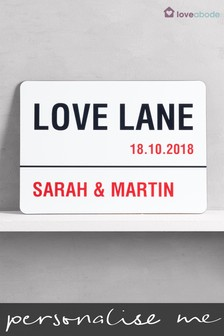 Buy wedding gifts decorations from the next uk online shop personalised love lane a4 wall art by loveabode junglespirit Image collections