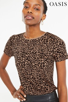 b9acd2a6a8 Oasis Animal Dipped Back Tee