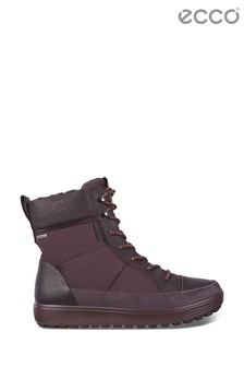 Ecco Red Fig Waterproof Goretex Lace Boot