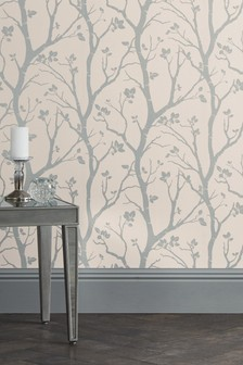 Paste The Wall Silver Woods Wallpaper