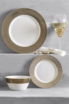 12 Piece Fitzroy Dinner Set & Dinnerware | Dinner Sets Plates \u0026 Crockery | Next UK