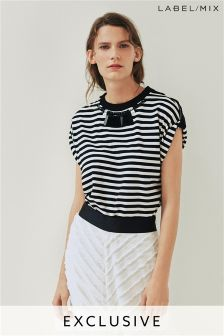 Mix/Osman Stripe Embellished T-Shirt