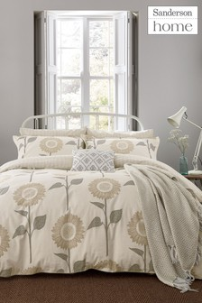 Sanderson Home Sundial Sunflower Cotton Duvet Cover