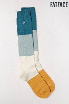 FatFace Green Knee High Socks
