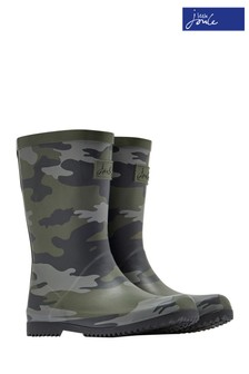 Joules Green Boys Roll-Up Welly