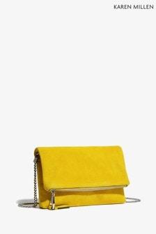 Karen Millen Yellow Updated Brompton Clutch