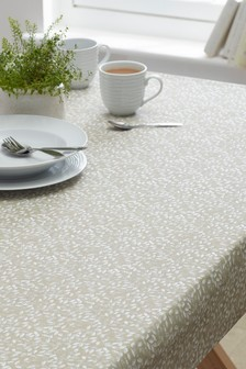 Wipe Clean Natural Petal Tablecloth
