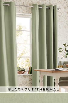 Cotton Eyelet Blackout Thermal Curtains