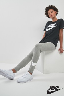 Nike Grey Club Logo Legging