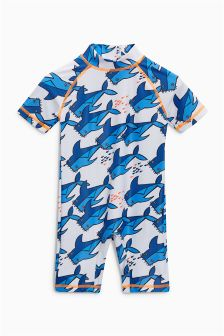 Shark All Over Print Sunsafe Suit (3mths-6yrs)
