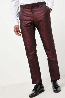 Костюмные брюки с жаккардовым узором из листьев