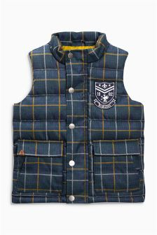 Padded Check Gilet (6mths-6yrs)