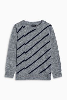 Diagonal Stripe Crew (3-16yrs)