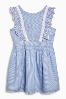 Ticking Stripe Dress (3-16yrs)