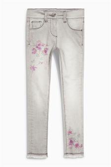 Floral Print Skinny Jeans (3-16yrs)