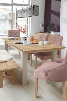 Huxley Painted 6 To 8 Seater Extending Dining Table