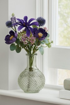 Artificial Floral Mix in Glass Bottle