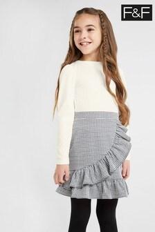 F&F Kids Multi Black/White Skirt Set