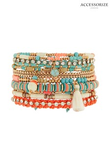 Accessorize Blue Amalfi Lux Stretch Bracelet Pack
