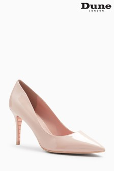 Dune Nude Patent Aurrora Pointed Court Shoe
