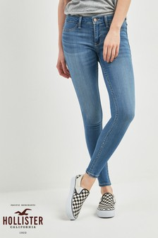 Hollister Skinny-Jeans in Rinse-Waschung