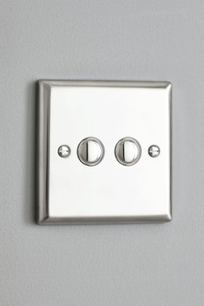 Double LED And Halogen Dimmer Light Switch