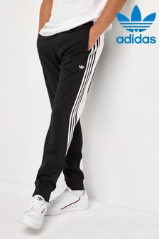 Pantalon de survêtement adidas Originals Wrap noir à 3 bandes