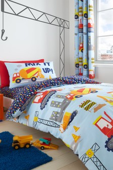 Construction Easy Care Duvet Cover and Pillowcase Set by Catherine Lansfield