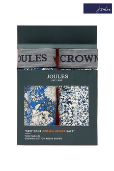 Joules Blue Boxers Two Pack