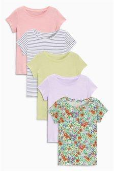 Kurzärmlige T-Shirts, Fünferpack (3-16yrs)