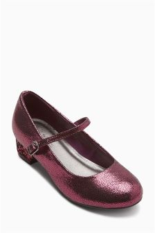 Glitter Heel Mary Jane Shoes (Older Girls)